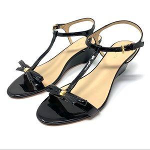 Kate Spade Donna TStrap Wedge Sandal Black 10 D110